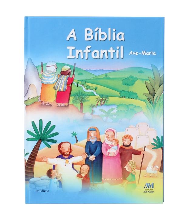 BÍBLIA AVE MARIA INFANTIL ENCADERNADA
