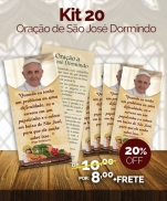 KIT 20 ORAÇÃO DE SÃO JOSÉ DORMINDO