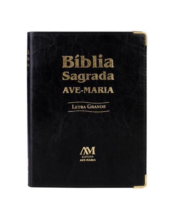 BÍBLIA AVE MARIA LETRA GRANDE PRETA