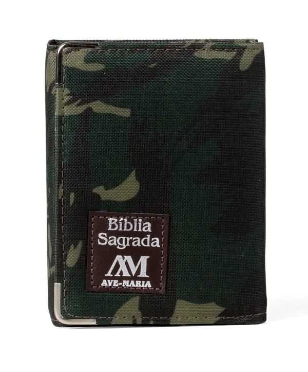 BÍBLIA AVE MARIA CAPANGA CAMUFLADA BOLSO