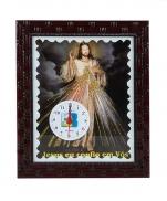 imagem do produto - QUADRO 20X25CM JESUS MISERICORDIOSO COM RELÓGIO
