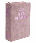 imagem do produto - BÍBLIA AVE MARIA LETRA MAIOR STRIKE ROSA