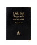 imagem do produto - BÍBLIA AVE MARIA LETRA GRANDE PRETA