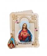 CARTÃO SP SAGRADO CORACAO DE JESUS COM MEDALHA