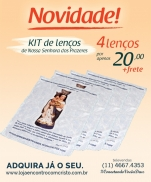 imagem do produto - KIT LENÇO NOSSA SENHORA DOS PRAZERES COM ORAÇÃO
