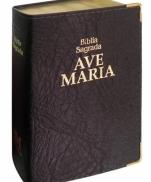 BÍBLIA AVE MARIA LUXO DOURADA MEDIA