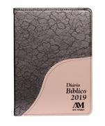 imagem do produto - DIÁRIO BÍBLICO 2019 LUXO MARROM FLORAL