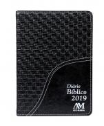 DIÁRIO BÍBLICO 2019 LUXO PRETO ENTRELAÇADO